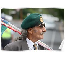 Green Beret on ANZAC Day Poster