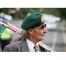 Green Beret on ANZAC Day Photographic Print