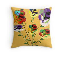 Flower Harvest Throw Pillow