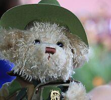 Teddy in Uniform on ANZAC Day by aussiebushstick