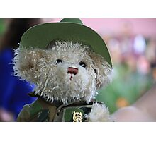 Teddy in Uniform on ANZAC Day Photographic Print