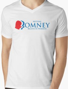 Mittens Romney Mens V-Neck T-Shirt