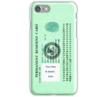 Green Card iPhone Case/Skin
