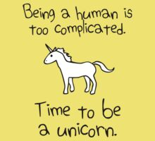 Time To Be A Unicorn Kids Tee
