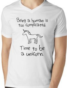Time To Be A Unicorn Mens V-Neck T-Shirt