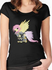 Lightning Fluttershy Women's Fitted Scoop T-Shirt