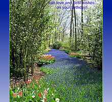 Keukenhof Birthday Card - Flower Lane by BlueMoonRose
