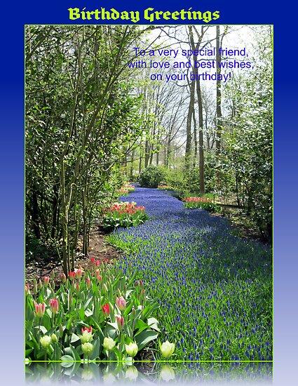 Keukenhof Birthday Card - Flower Lane by BlueMoonRose