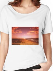 sunset over the beach Women's Relaxed Fit T-Shirt