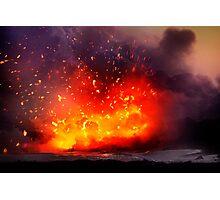 Kilauea Volcano at Kalapana 9 Photographic Print