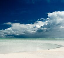 Stormy Clouds and White Beaches by Karen Willshaw