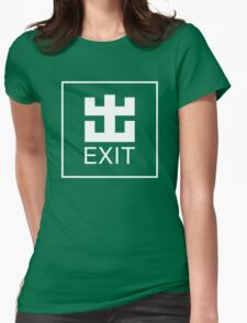 MTR Exit Sign Womens Fitted T-Shirt