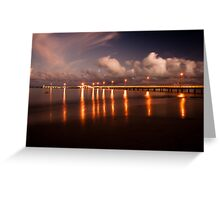 Reflections of Lights on the Water Greeting Card