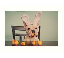 I am the Easter Bunny. Art Print