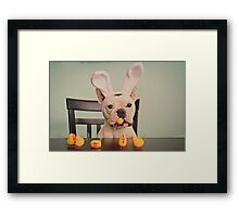 I am the Easter Bunny. Framed Print
