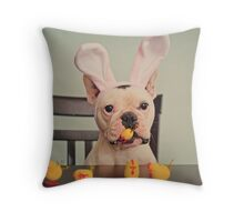 I am the Easter Bunny. Throw Pillow