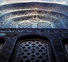Sultan Hassan Mosque Detail by Carole-Anne