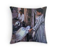 Artisan Father and Son, Cairo Throw Pillow