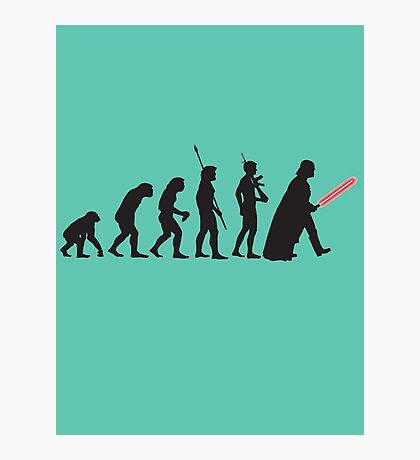 Human evolution Star wars Photographic Print