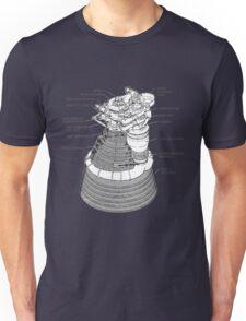 Saturn 5 (V) Rocket Motor Diagram. T-Shirt