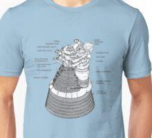 Saturn 5 (V) Rocket Motor Diagram. Unisex T-Shirt