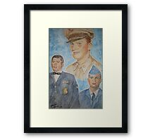Three Generations Military Family Framed Print