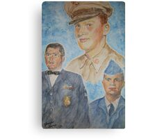 Three Generations Military Family Canvas Print