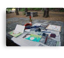 Atelier en plein air Canvas Print