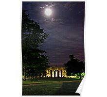 Fieldhouse Mall at Night Poster