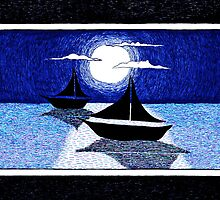moonlight sailing by rebeccah fries
