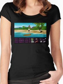 Finally on Monkey Island (Monkey Island 1) Women's Fitted Scoop T-Shirt