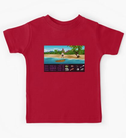Finally on Monkey Island (Monkey Island 1) Kids Tee