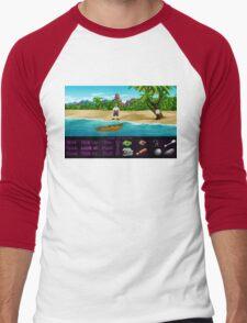 Finally on Monkey Island (Monkey Island 1) Men's Baseball ¾ T-Shirt