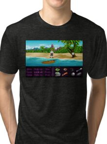 Finally on Monkey Island (Monkey Island 1) Tri-blend T-Shirt