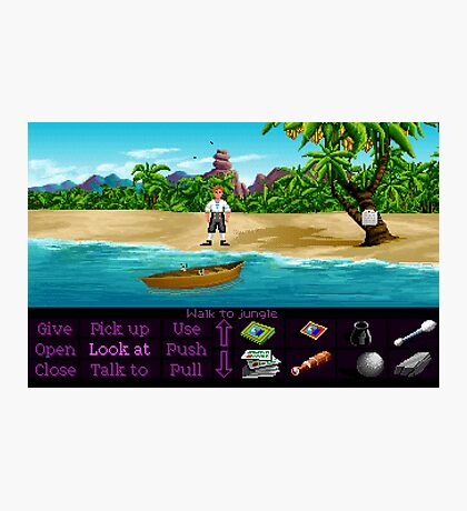 Finally on Monkey Island (Monkey Island 1) Photographic Print