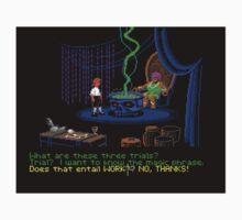 Asking about the Three Trials (Monkey Island 1) Kids Tee