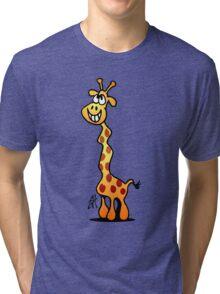 Joyfull Giraffe Tri-blend T-Shirt