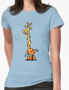 Joyfull Giraffe Womens Fitted T-Shirt