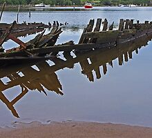 Remains of the Way - Sunk at Strahan by TonyCrehan