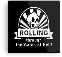 ROLLING through the Gates of Hell! (Murray - Monkey Island 3) Metal Print
