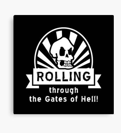 ROLLING through the Gates of Hell! (Murray - Monkey Island 3) Canvas Print