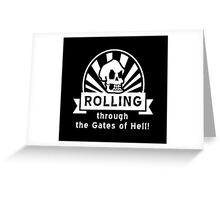 ROLLING through the Gates of Hell! (Murray - Monkey Island 3) Greeting Card