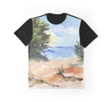 Beach at Mvoti Graphic T-Shirt