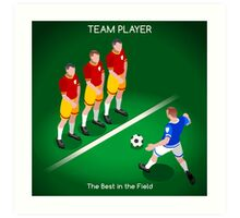 Football Team Player Art Print