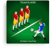 Football Team Player Canvas Print