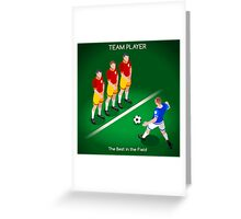 Football Team Player Greeting Card