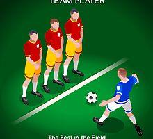 Football Team Player by aurielaki