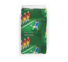Football Team Player Duvet Cover