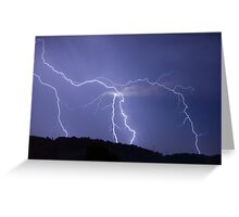 Streaked lightning Greeting Card