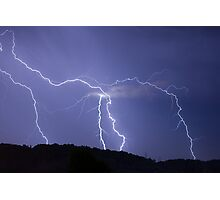 Streaked lightning Photographic Print